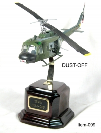 Huey DUST OFF on Rosewood base