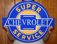 Chevy super service sign