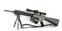 U.S. AR-10 Stoner with bipod /scope and 100 round ammo can