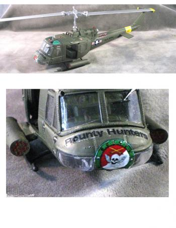 1:48 scale huey helicopter U.S. Army 2