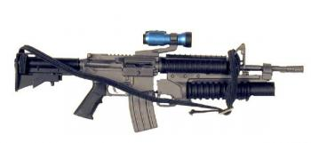U.S. M-4 w/M203 and flash light top mounted
