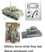 Military items discontinued
