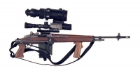 U.S.M-14 sniper with scope and night vision scope also commando stock