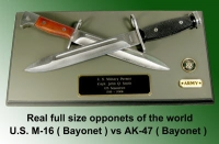 U.S. Army Bayonet wall plaque