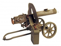 Russian Maxim Machine Gun on cart