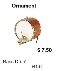 miniature bass drum