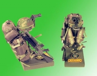 Back pack w/helmet and night vision w/ M-16