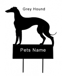 GreyHound dog grave marker