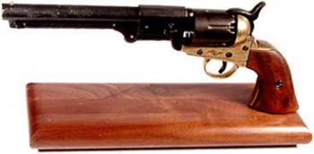 Western style Colt model 1861 Navy on wood