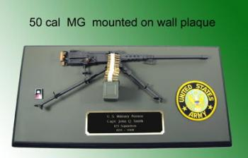 50 cal wall plaque U.S.Army