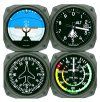 Aircraft instrument coaster set of 4