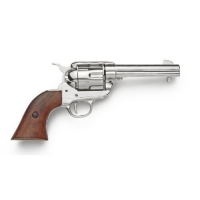 Old West Revolver nickle finish