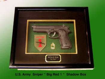 "Sniper "" Big Red 1 "" shadow box"
