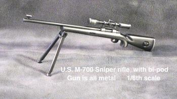 U.S. M-700 Snipe3r Rifle with pi pod All Metal