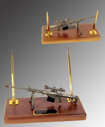 Barrett 50 cal Rifle as desk set