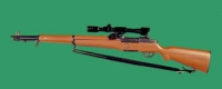 U.S. M1 Garand rifle with scope ( no) flash suppressor