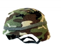 HQ helmet ( woodland camo cover)