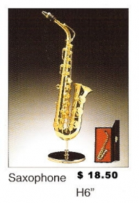 Miniature Musical Instruments - Saxophone