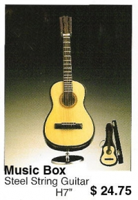 miniature Steel String Guitar ( music box )