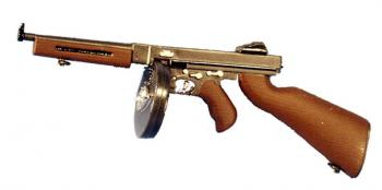 U.S. Thompson SMG w/rd ammo can