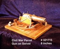 "Cannon "" Civil War Parrot Gun on swivel """