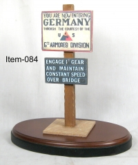 ww2 Roadside sign