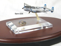 P-38 lightning with acrylic base