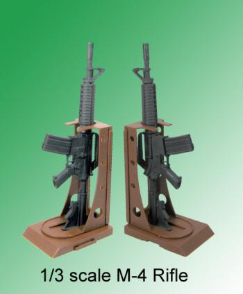 1/3 scale M-4 rifle with stand