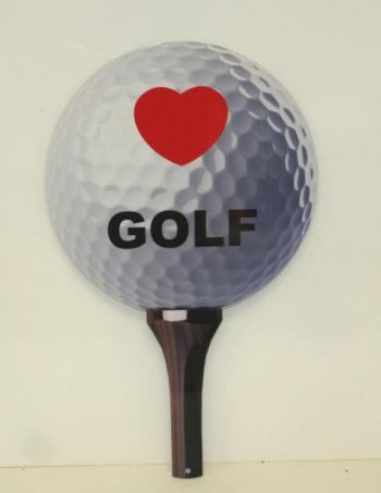 Golf Ball & tee sign