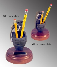Grenade as pencil holder
