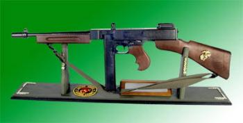 U.S.Thompson SMG Military type on board
