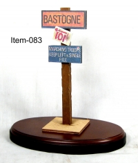 ww2 road side sign for 1/6th scale