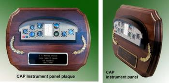 CAP instrument panel plaque