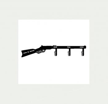 Rifle coat hanger -- personalized