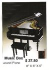 Miniature grand piano music box ( Black )