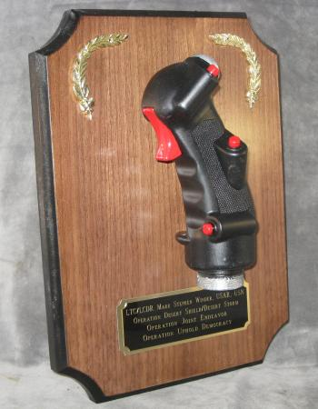 Aviation wall plaque--stick grip
