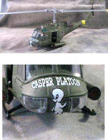 1:48 scale huey helicopter U.S. Army 1