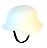 Winter whitewashed helmet
