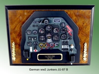 German WW2 Junkers JU-87 B inst panel