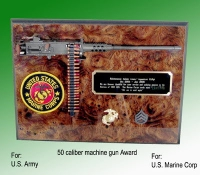 50 caliber machine gun plaque