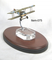 ww1 British Spad on acrylic base