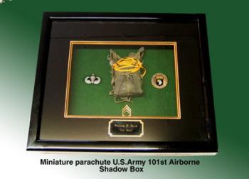 US Army 101st shadow box ( Gloss Black)