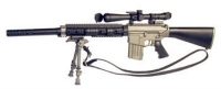 SR25 w/suppressor and scope also foldable bipod