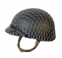 M1 helmet with netting