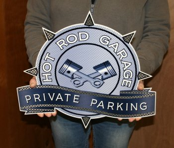 Hot Rod private parking sign