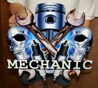 Mechanic mancave sign