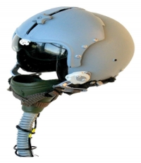 F-15 Fighter pilot helmet with ox mask