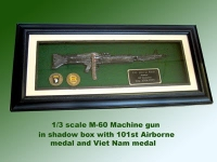 M-60 machine gun shadow box award