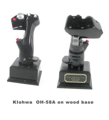 Bell OH-58A Kiowa helicopter stick grip