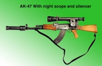 Russian AK-74 With silencer and night scope